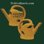 ARROSOIR A PASTIS COULEUR PROVENCALE DECOR OLIVES NOIRES