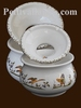 CENDRIER ANTI FUMEE FAIENCE GRAND MODELE TRADITION POLYCHROM